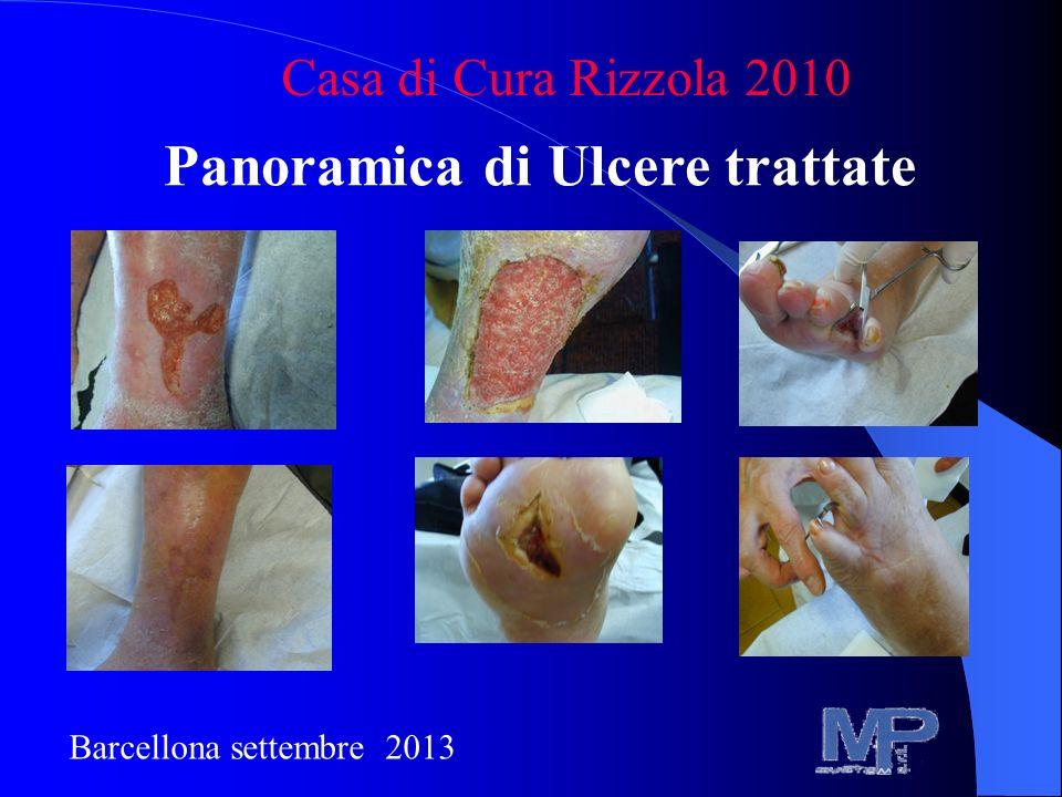 Panoramica di Ulcere trattate Casa di Cura Rizzola 2010 Barcellona settembre 2013