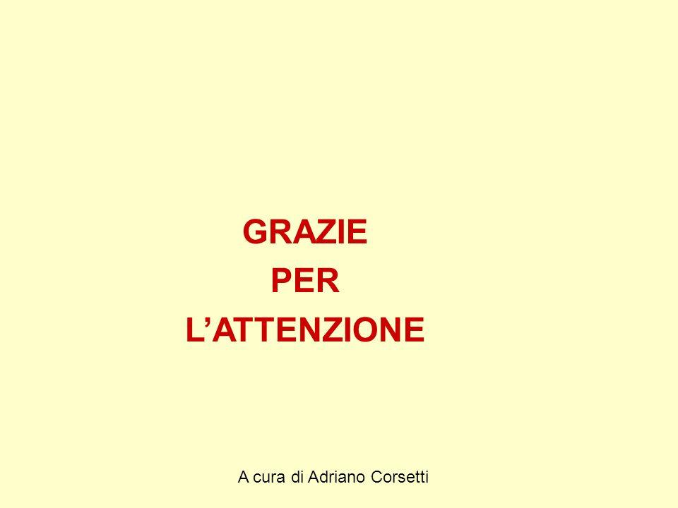 A cura di Adriano Corsetti GRAZIE PER LATTENZIONE