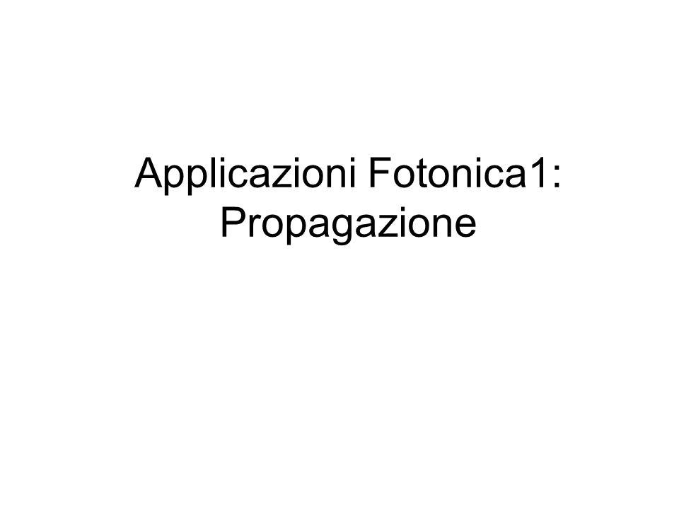 Applicazioni Fotonica1: Propagazione