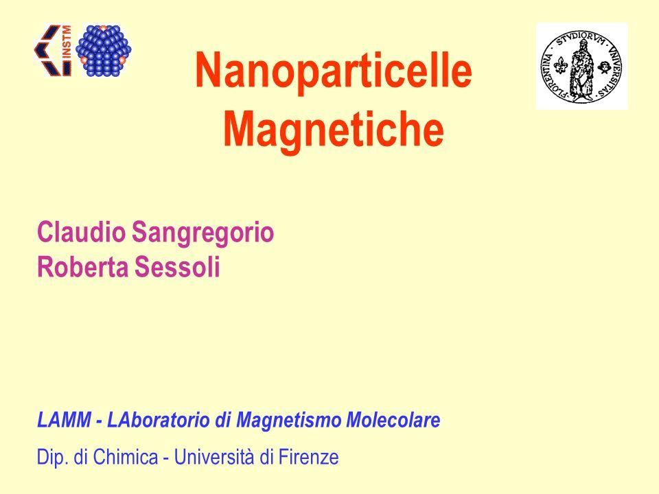 Nanoparticelle Magnetiche LAMM - LAboratorio di Magnetismo Molecolare Dip. di Chimica - Università di Firenze Claudio Sangregorio Roberta Sessoli