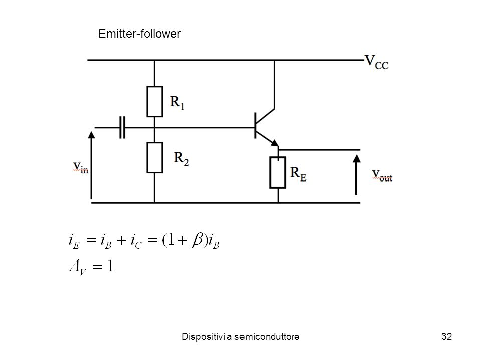 Dispositivi a semiconduttore32 Emitter-follower