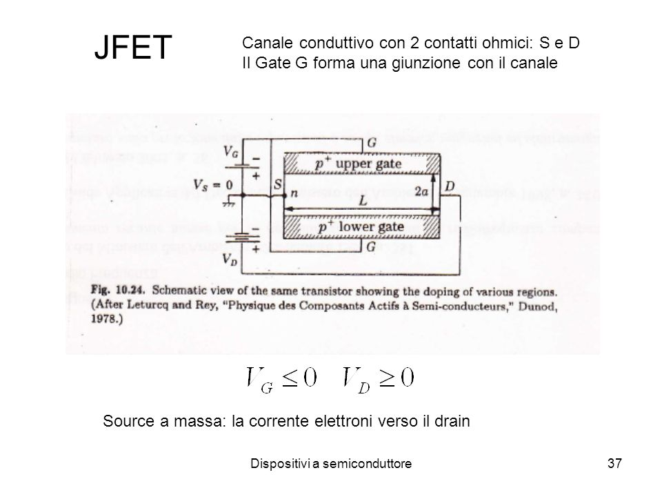 Dispositivi a semiconduttore38 JFET a canale n