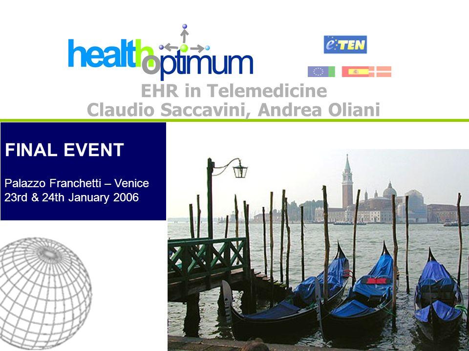 FINAL EVENT - Venice, 23rd & 24th January 2006 2 IHE Approach: Cross Enterprise Document Sharing