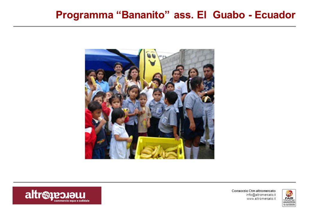 Consorzio Ctm altromercato info@altromercato.it www.altromercato.it Programma Bananito ass.