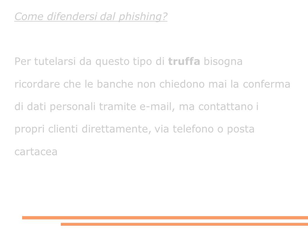 Come difendersi dal phishing.