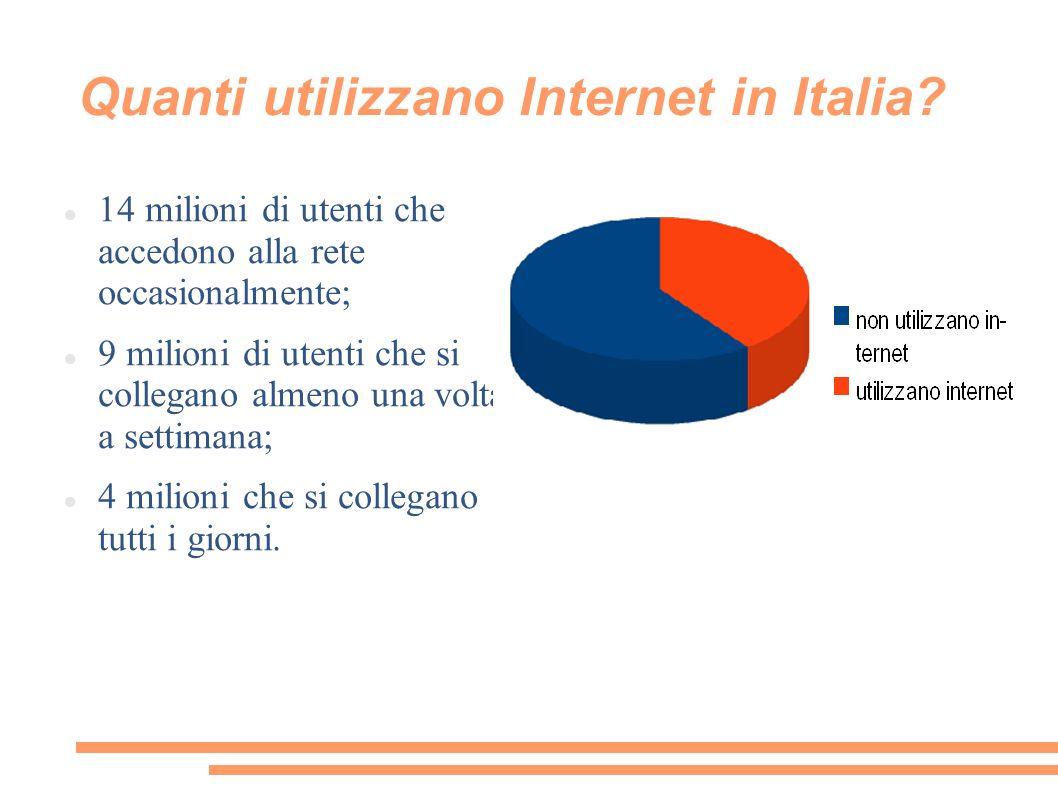 Quanti utilizzano Internet in Italia.