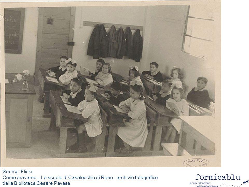 Source: Flickr Come eravamo – Le scuole di Casalecchio di Reno - archivio fotografico della Biblioteca Cesare Pavese