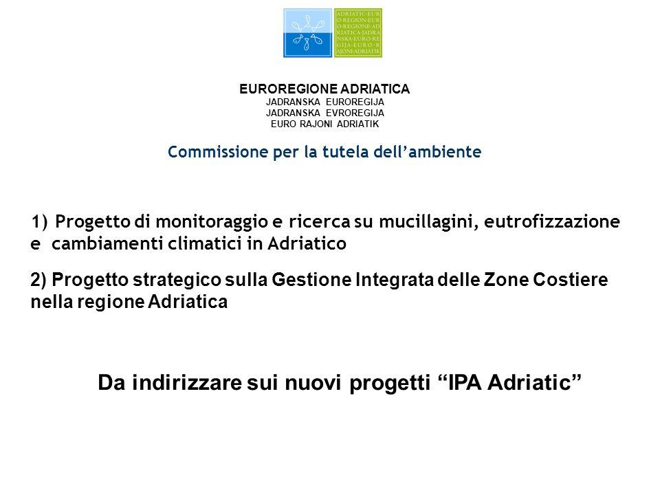 EUROREGIONE ADRIATICA JADRANSKA EUROREGIJA JADRANSKA EVROREGIJA EURO RAJONI ADRIATIK Commissione per la tutela dellambiente 1)Progetto di monitoraggio