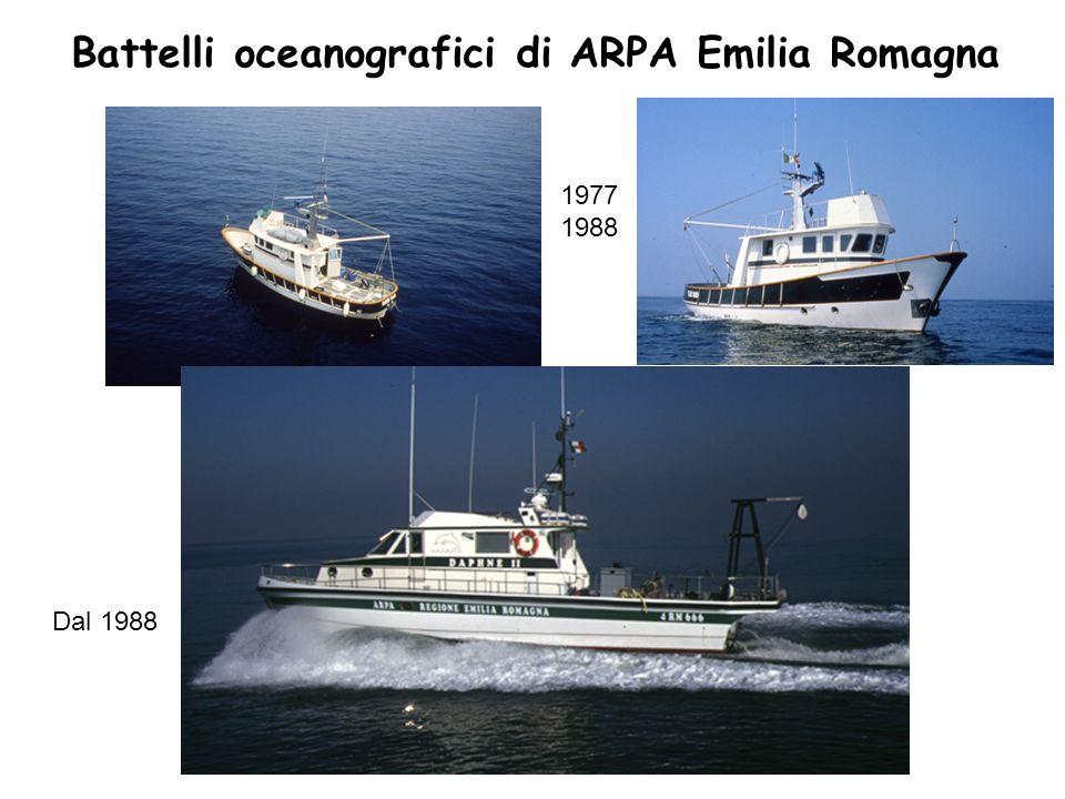 Battelli oceanografici di ARPA Emilia Romagna 1977 1988 Dal 1988