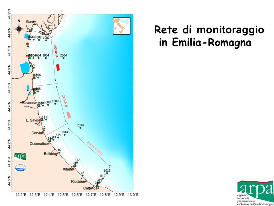Rete di monitoraggio in Emilia-Romagna