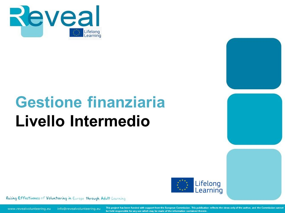 Gestione finanziaria Livello Intermedio This project has been funded with support from the European Commission. This publication reflects the views on