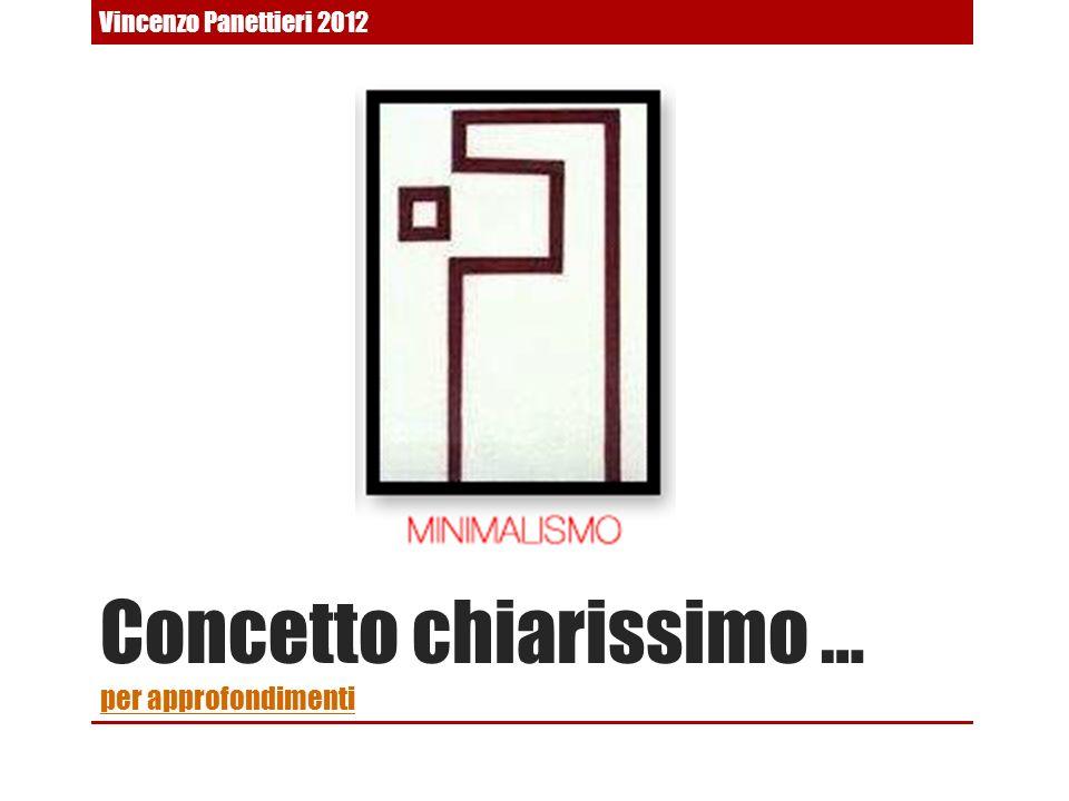 Concetto chiarissimo … per approfondimenti per approfondimenti Vincenzo Panettieri 2012