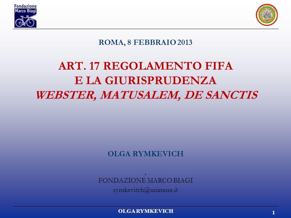 OLGA RYMKEVICH 1 ROMA, 8 FEBBRAIO 2013 ART.