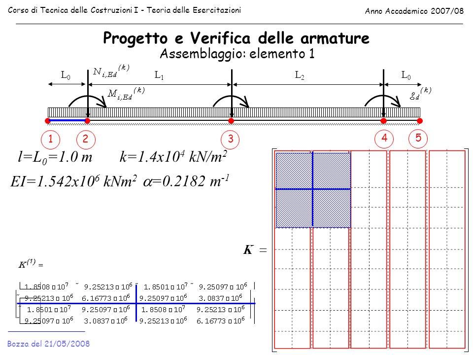 Progetto e Verifica delle armature Corso di Tecnica delle Costruzioni I - Teoria delle Esercitazioni Anno Accademico 2007/08 Bozza del 21/05/2008 Asse
