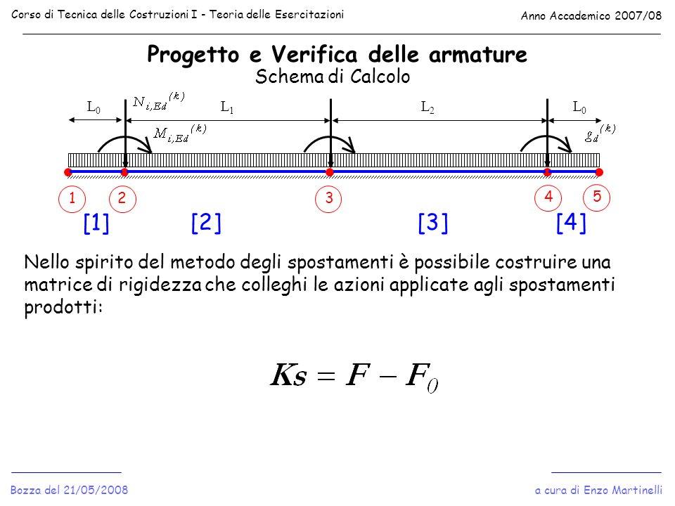 Progetto e Verifica delle armature Corso di Tecnica delle Costruzioni I - Teoria delle Esercitazioni Anno Accademico 2007/08 a cura di Enzo Martinelli