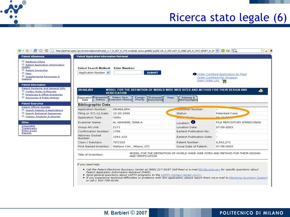 M. Barbieri © 2007 Ricerca stato legale (6)