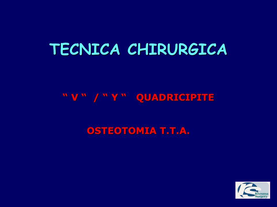 TECNICA CHIRURGICA V / Y QUADRICIPITE V / Y QUADRICIPITE OSTEOTOMIA T.T.A.