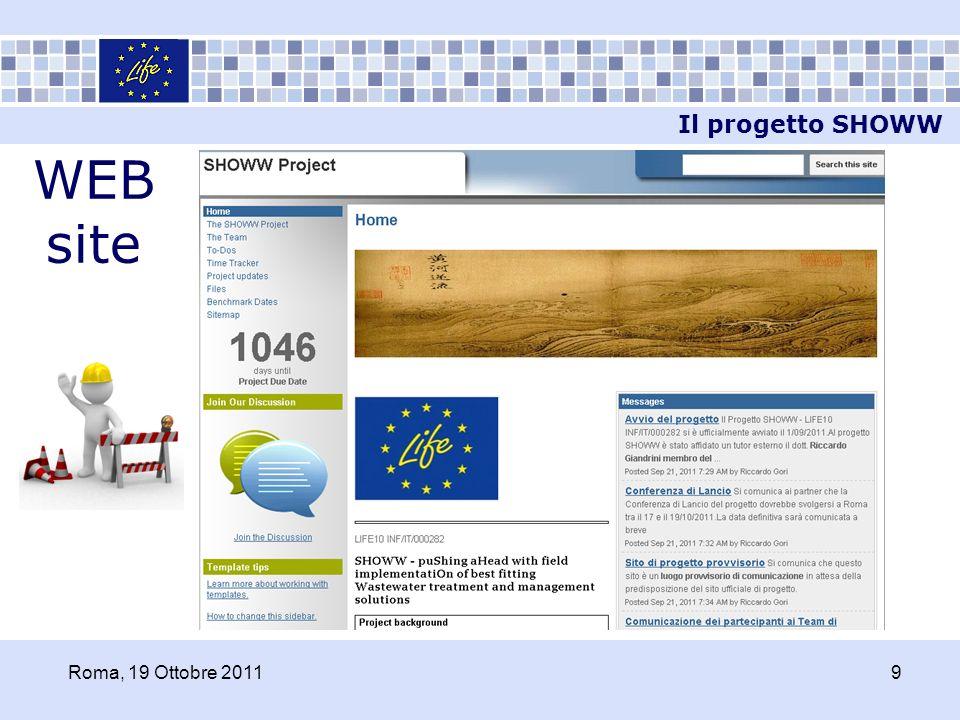 WEB site Il progetto SHOWW Roma, 19 Ottobre 20119