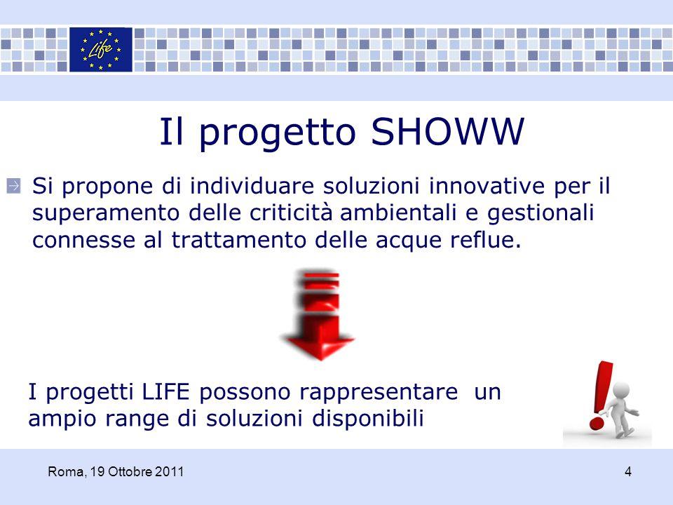 Il progetto SHOWW Si propone di individuare soluzioni innovative per il superamento delle criticità ambientali e gestionali connesse al trattamento de