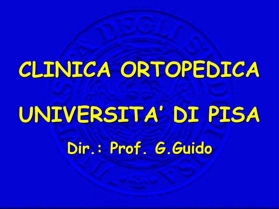 Dir.: Prof. G.Guido CLINICA ORTOPEDICA UNIVERSITA DI PISA