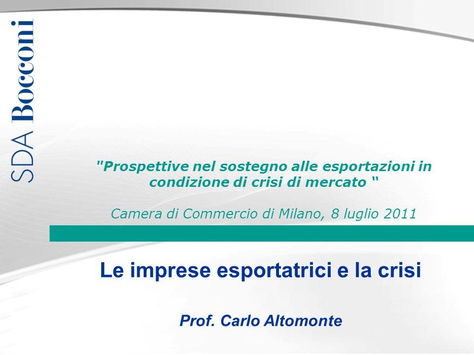 Le imprese esportatrici e la crisi Prof.