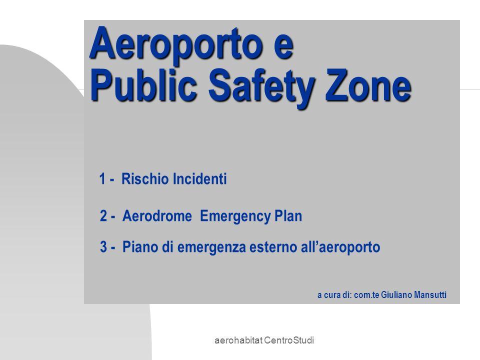 aerohabitat CentroStudi Aeroporto e Public Safety Zone Aeroporto e Public Safety Zone 1 - Rischio Incidenti 2 - Aerodrome Emergency Plan 3 - Piano di