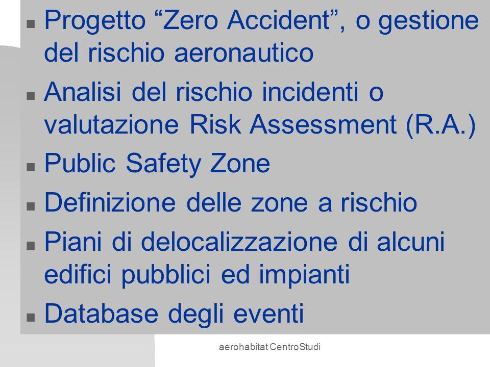 aerohabitat CentroStudi n Progetto Zero Accident, o gestione del rischio aeronautico n Analisi del rischio incidenti o valutazione Risk Assessment (R.