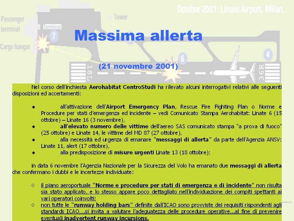 www.aerohabitat.org14 Massima allerta (21 novembre 2001)