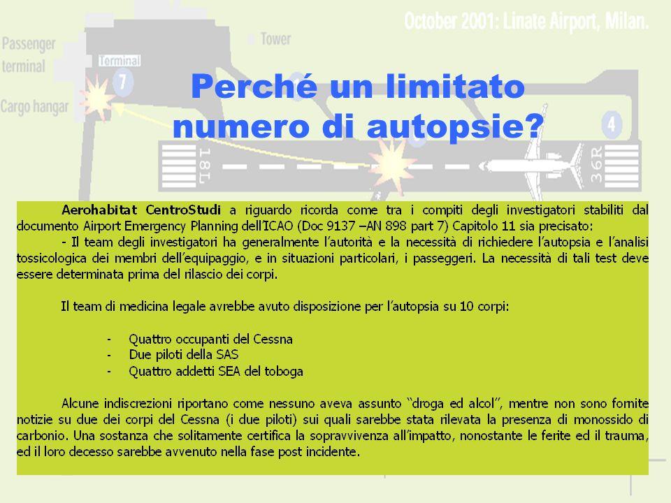 www.aerohabitat.org19 Perché un limitato numero di autopsie?