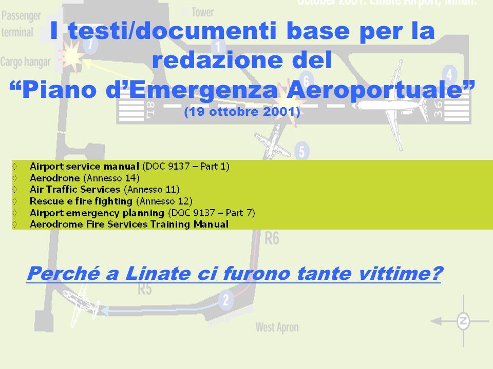 www.aerohabitat.org9 I testi/documenti base per la redazione del Piano dEmergenza Aeroportuale (19 ottobre 2001) Perché a Linate ci furono tante vitti