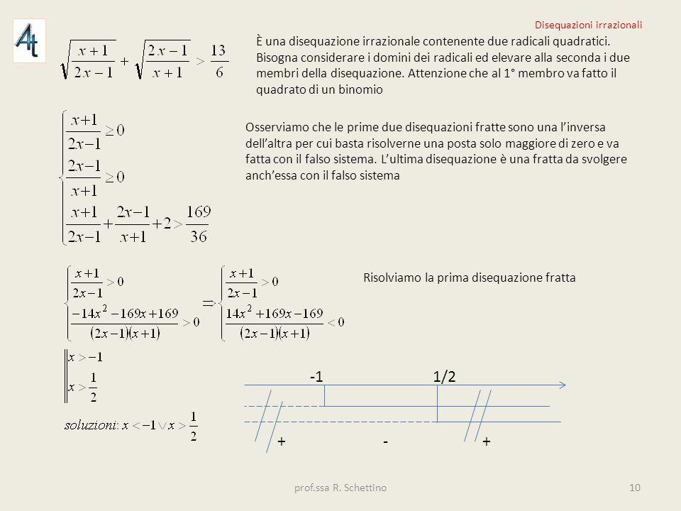 È una disequazione irrazionale contenente due radicali quadratici. Bisogna considerare i domini dei radicali ed elevare alla seconda i due membri dell