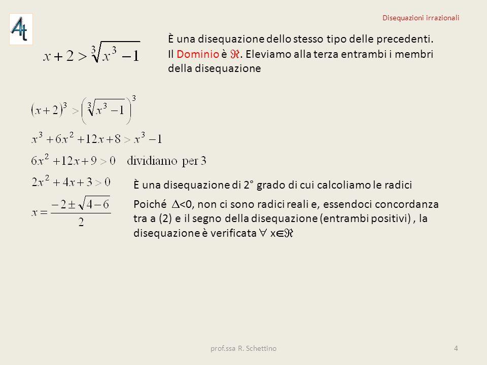 È una disequazione irrazionale di indice dispari.Il Dominio del radicando è x -1.
