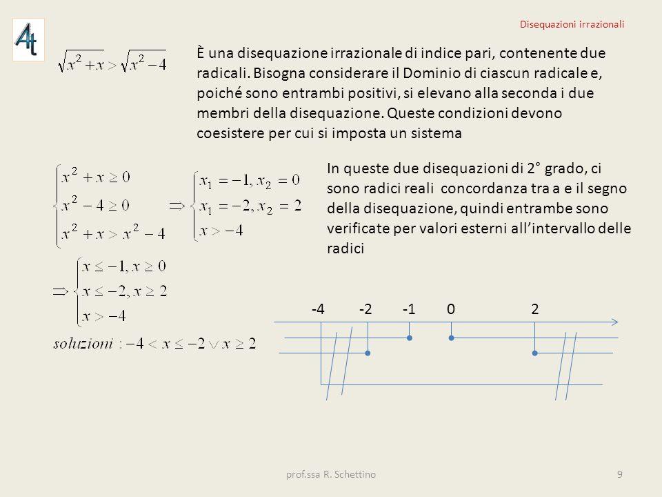 È una disequazione irrazionale di indice pari, contenente due radicali. Bisogna considerare il Dominio di ciascun radicale e, poiché sono entrambi pos