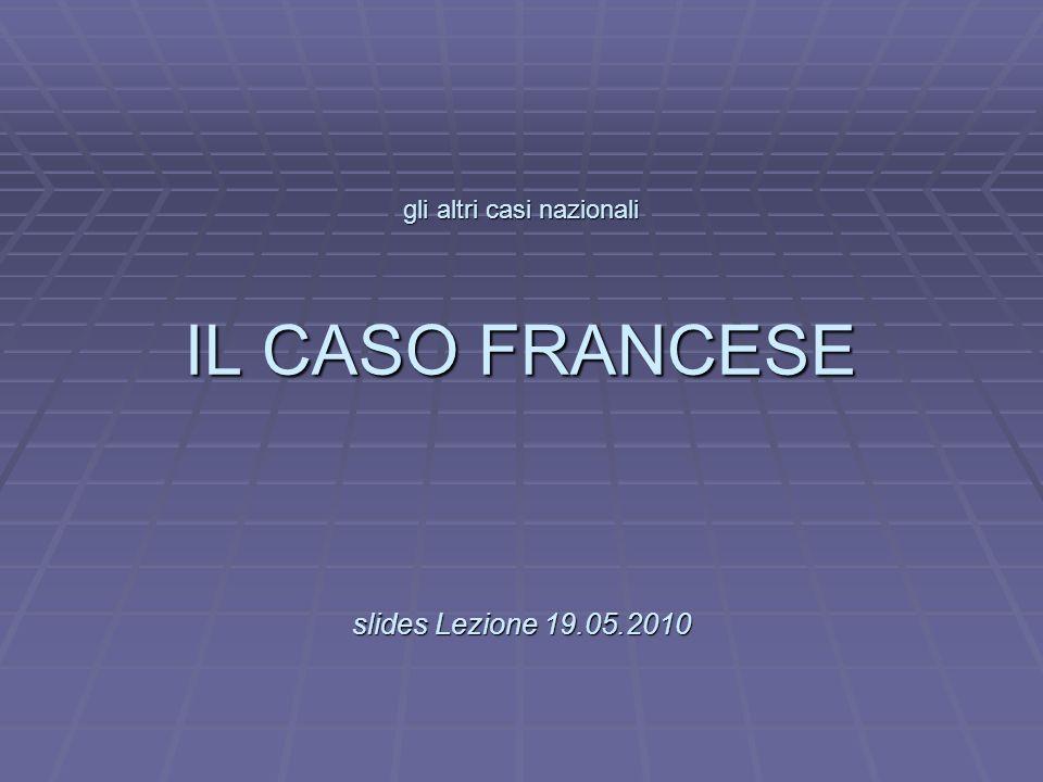 L gli altri casi nazionali IL CASO FRANCESE slides Lezione 19.05.2010