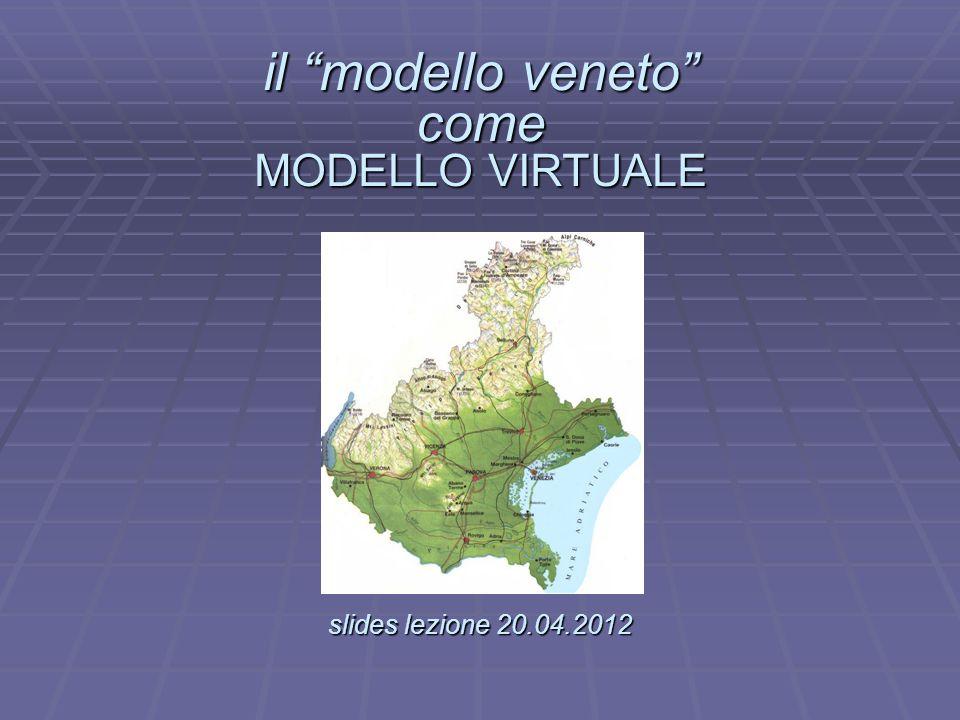il modello veneto come MODELLO VIRTUALE slides lezione 20.04.2012 il modello veneto come MODELLO VIRTUALE. slides lezione 20.04.2012