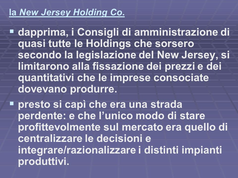 la New Jersey Holding Co.