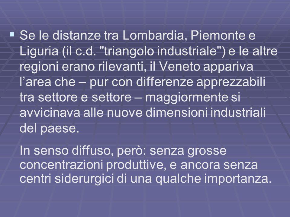 Se le distanze tra Lombardia, Piemonte e Liguria (il c.d.