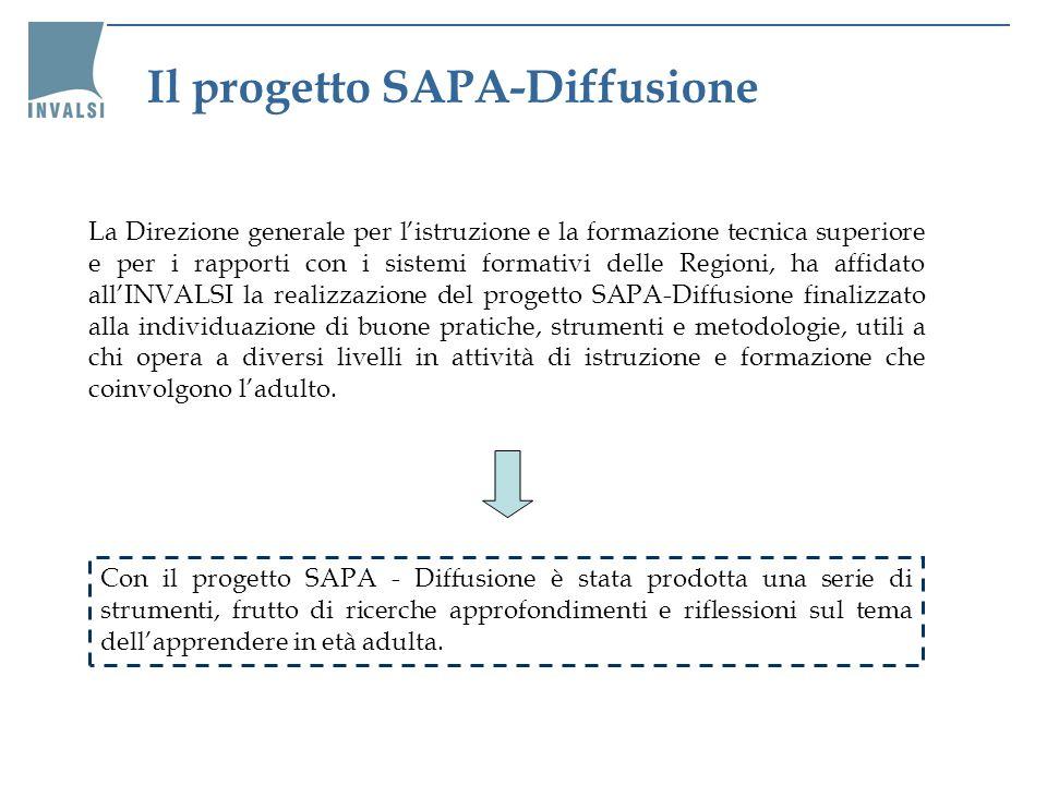 Con il progetto SAPA - Diffusione è stata prodotta una serie di strumenti, frutto di ricerche approfondimenti e riflessioni sul tema dellapprendere in età adulta.