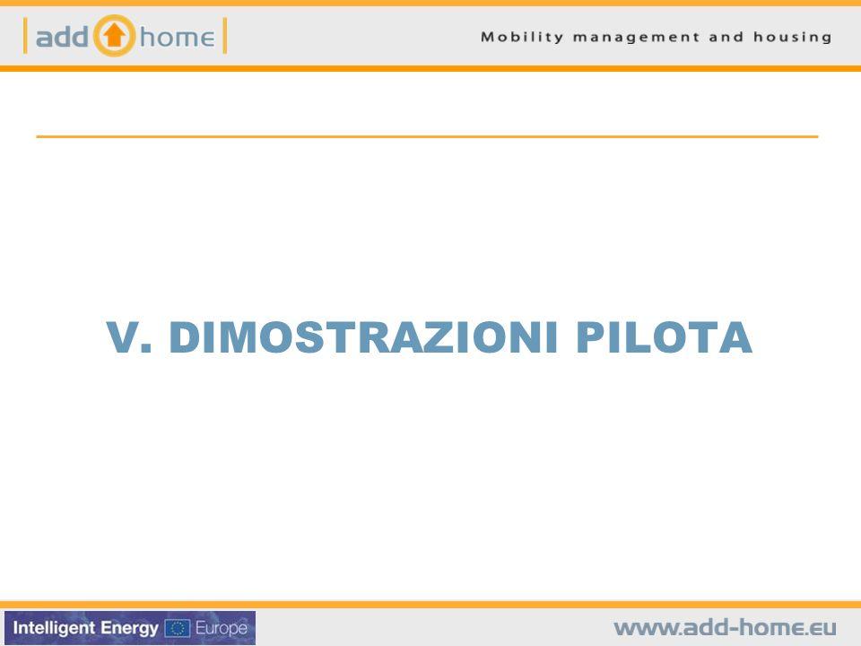 V. DIMOSTRAZIONI PILOTA