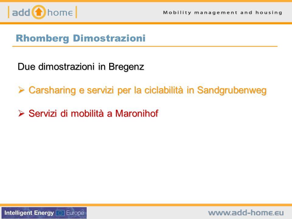 Rhomberg Dimostrazioni Due dimostrazioni in Bregenz Carsharing e servizi per la ciclabilità in Sandgrubenweg Carsharing e servizi per la ciclabilità i