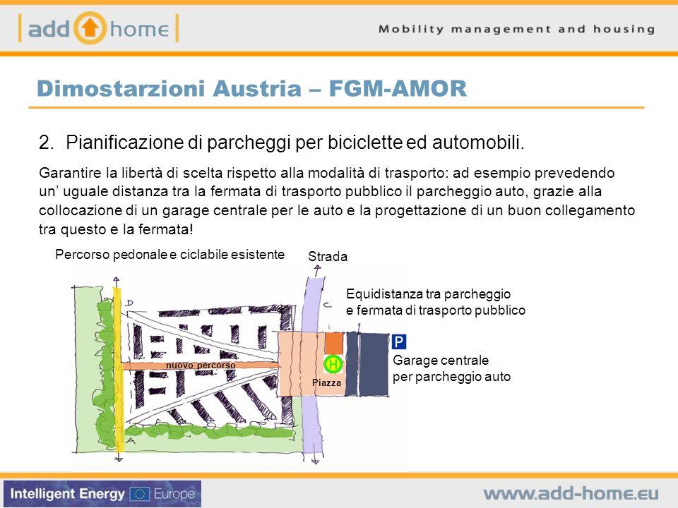 Dimostarzioni Austria – FGM-AMOR 2. Pianificazione di parcheggi per biciclette ed automobili. Garantire la libertà di scelta rispetto alla modalità di
