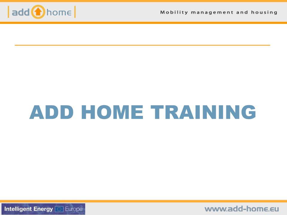 ADD HOME - PARTNERS & CONTACTS Partnership del progetto Azienda Mobilità e Infrastrutture S.p.A.