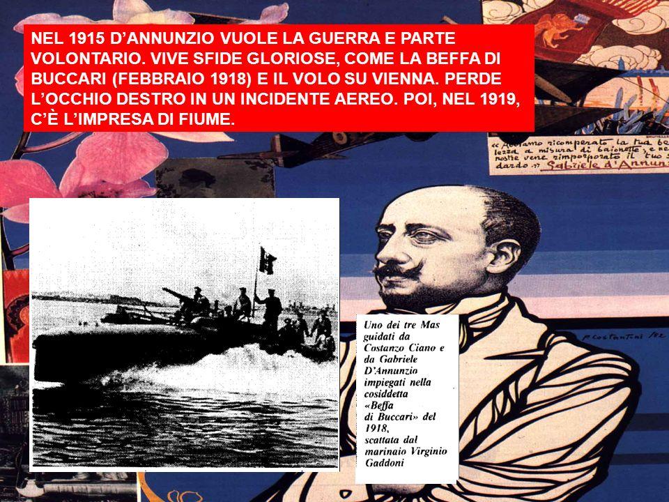 PRECURSORE E POI SEGUACE DEL FASCISMO. Nella foto, DAnnunzio con Mussolini nel 1929.