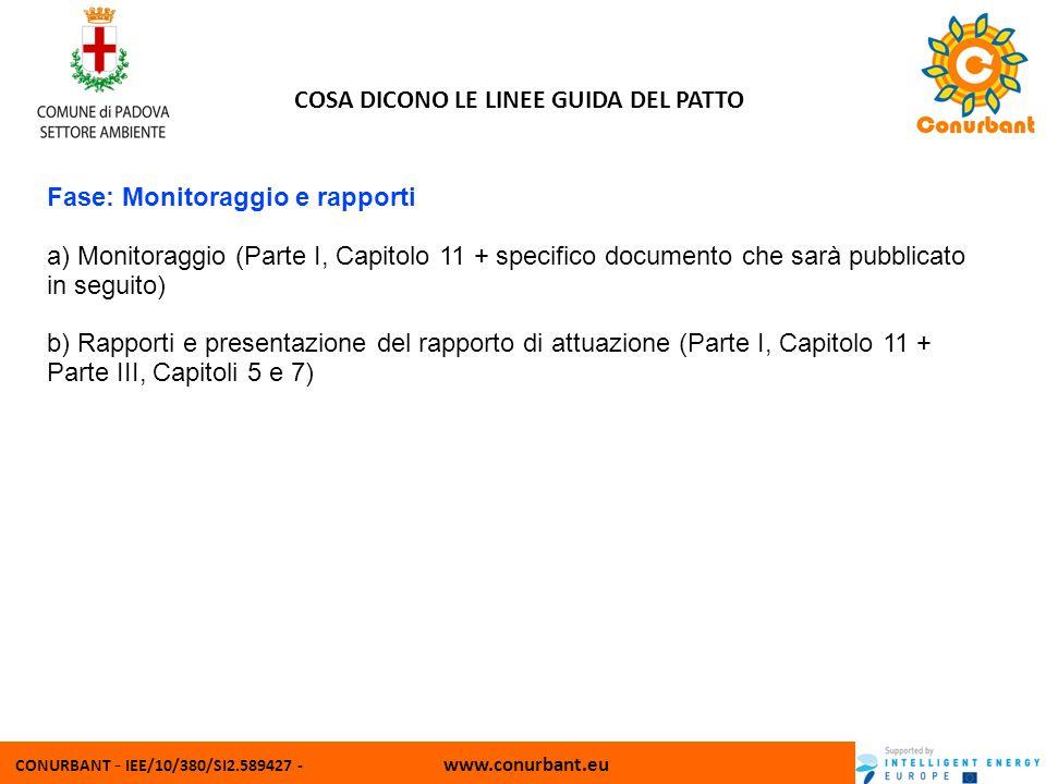 CONURBANT - IEE/10/380/SI2.589427 - www.conurbant.eu COSA PREVEDE IL PROGETTO CONURBANT
