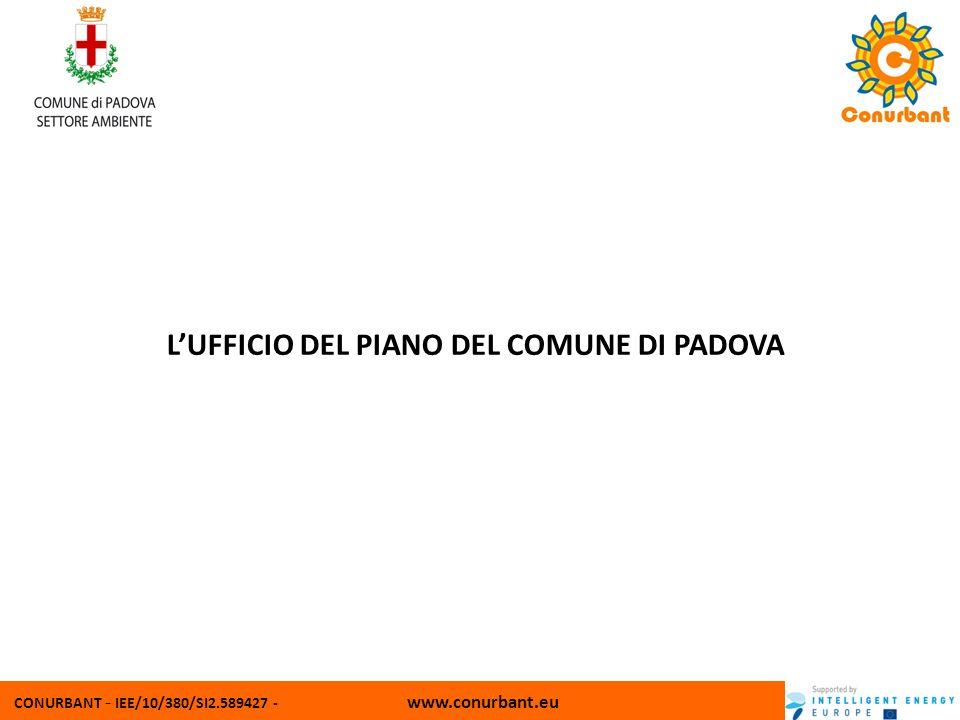CONURBANT - IEE/10/380/SI2.589427 - www.conurbant.eu LUFFICIO DEL PIANO DEL COMUNE DI PADOVA