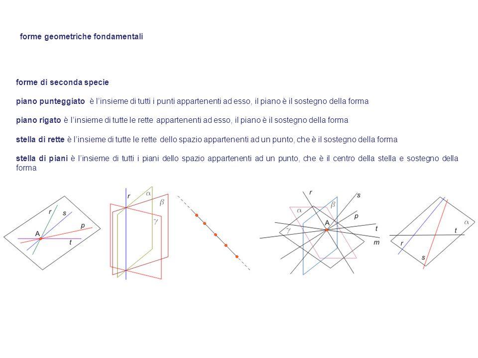 forme di seconda specie piano punteggiato è linsieme di tutti i punti appartenenti ad esso, il piano è il sostegno della forma piano rigato è linsieme