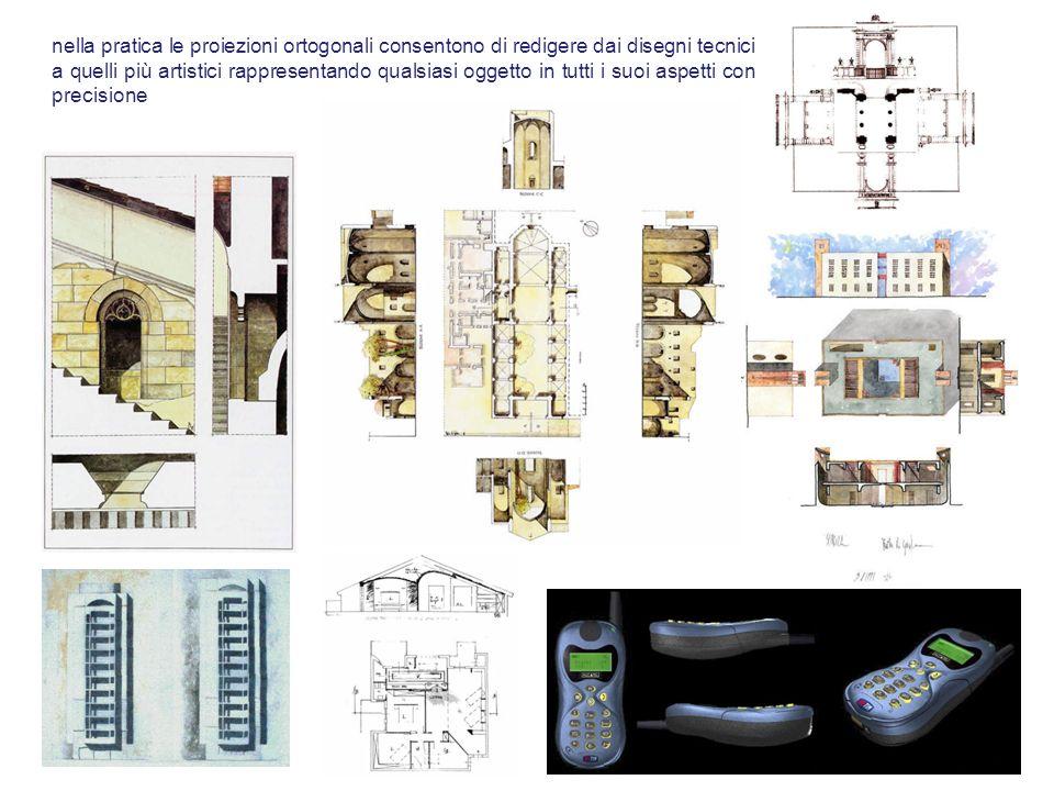 nella pratica le proiezioni ortogonali consentono di redigere dai disegni tecnici a quelli più artistici rappresentando qualsiasi oggetto in tutti i s
