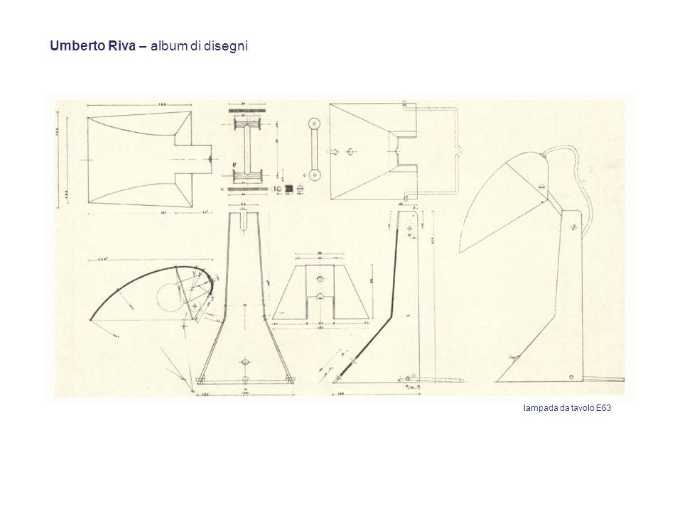 Umberto Riva – album di disegni lampada da tavolo E63