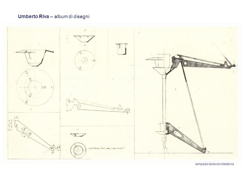 Umberto Riva – album di disegni lampada da tavolo Metafora