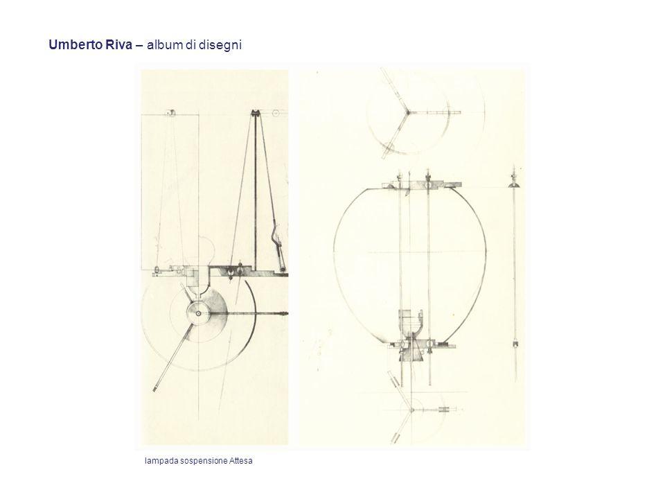Umberto Riva – album di disegni lampada sospensione Attesa
